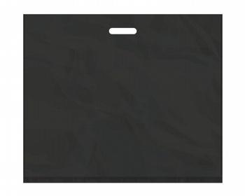 Náhled produktu Igelitová PE taška černá - 650x550mm, pevný průhmat a složené dno