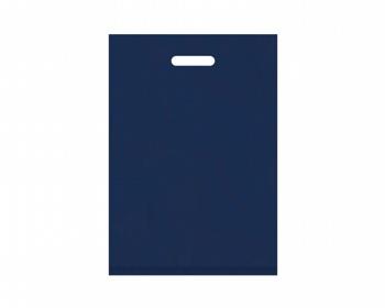 Náhled produktu Igelitová PE taška tmavě modrá - 350x500mm, pevný průhmat a složené dno