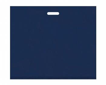 Náhled produktu Igelitová PE taška tmavě modrá - 650x550mm, pevný průhmat a složené dno