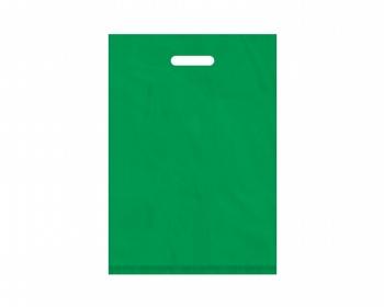 Náhled produktu Igelitová PE taška zelená - 350x500mm, pevný průhmat a složené dno