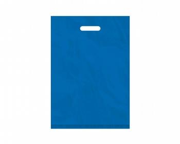 Náhled produktu Igelitová PE taška světle modrá - 350x500mm, pevný průhmat a složené dno
