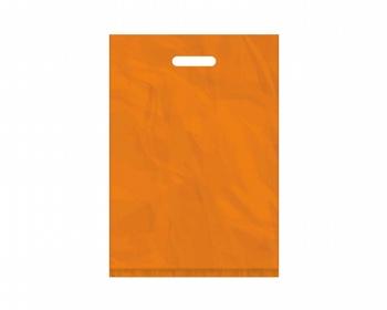 Náhled produktu Igelitová PE taška oranžová - 350x500mm, pevný průhmat a složené dno