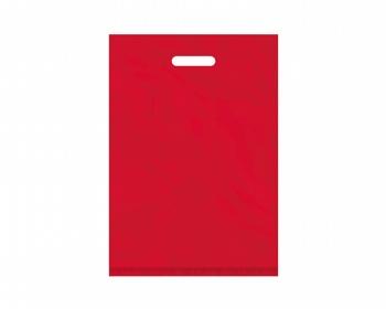 Náhled produktu Igelitová PE taška červená - 350x500mm, pevný průhmat a složené dno
