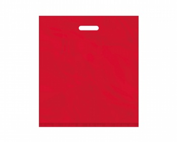 Náhled produktu Igelitová PE taška červená - 450x500mm, pevný průhmat a složené dno