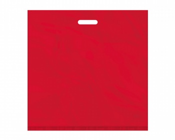 Náhled produktu Igelitová PE taška červená - 550x550mm, pevný průhmat a složené dno