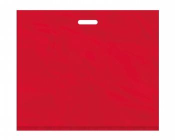 Náhled produktu Igelitová PE taška červená - 650x550mm, pevný průhmat a složené dno