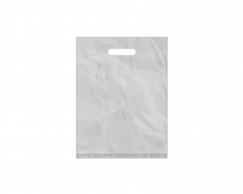 Náhled produktu Igelitová PE taška stříbrná - 300x400mm, pevný průhmat a složené dno
