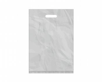 Náhled produktu Igelitová PE taška stříbrná - 350x500mm, pevný průhmat a složené dno