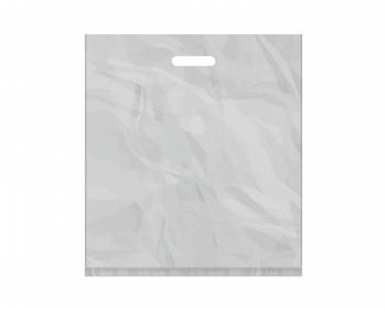 Náhled produktu Igelitová PE taška stříbrná - 450x500mm, pevný průhmat a složené dno