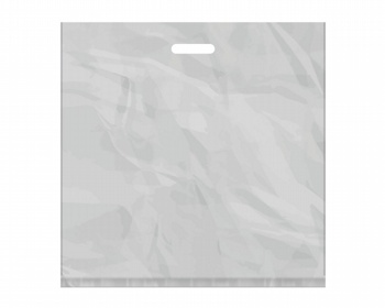 Náhled produktu Igelitová PE taška stříbrná - 550x550mm, pevný průhmat a složené dno