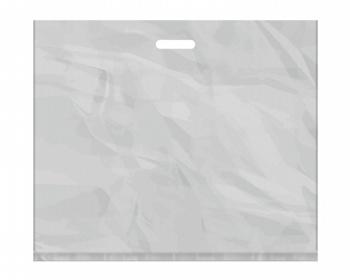 Náhled produktu Igelitová PE taška stříbrná - 650x550mm, pevný průhmat a složené dno