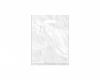 Náhled produktu Igelitová PE taška bílá - 300x400mm, pevný průhmat a složené dno