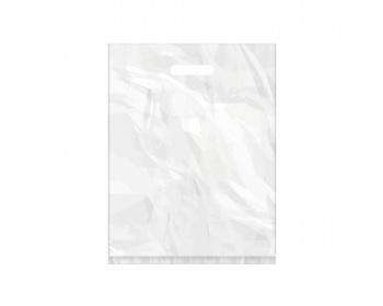 Náhled produktu Igelitová PE taška bílá - 350x460mm, pevný průhmat a složené dno