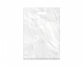 Náhled produktu Igelitová PE taška bílá - 350x500mm, pevný průhmat a složené dno
