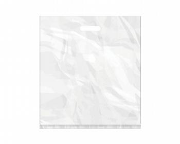 Náhled produktu Igelitová PE taška bílá - 450x500mm, pevný průhmat a složené dno