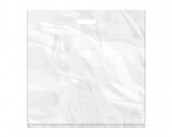 Náhled produktu Igelitová PE taška bílá - 550x550mm, pevný průhmat a složené dno