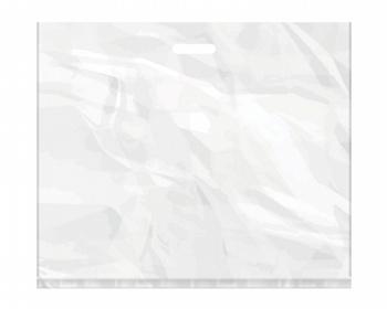 Náhled produktu Igelitová PE taška bílá - 650x550mm, pevný průhmat a složené dno