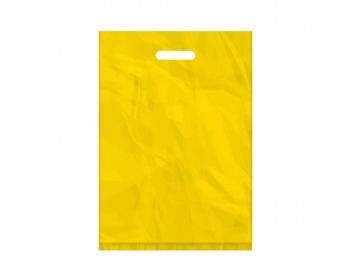 Náhled produktu Igelitová PE taška žlutá - 350x500mm, pevný průhmat a složené dno