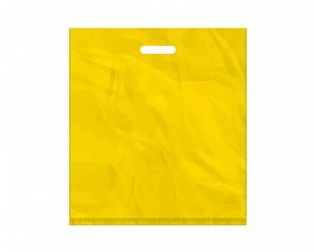 Náhled produktu Igelitová PE taška žlutá - 450x500mm, pevný průhmat a složené dno