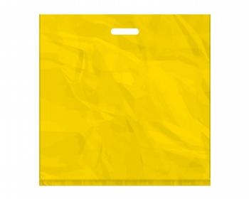 Náhled produktu Igelitová PE taška žlutá - 550x550mm, pevný průhmat a složené dno