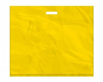 Náhled produktu Igelitová PE taška žlutá - 650x550mm, pevný průhmat a složené dno