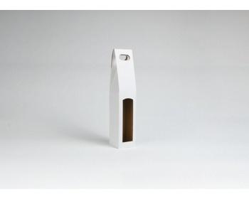 Náhled produktu Papírová krabice na 1 lahev vína ALTO - 8,2 x 40 x 8,2 cm - bílá