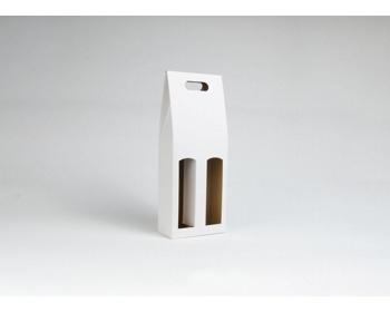 Náhled produktu Papírová krabice na 2 lahve vína ALTO - 17 x 40 x 8 cm - bílá