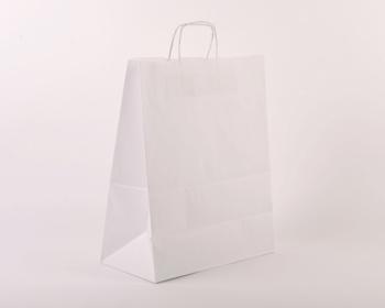 Náhled produktu Papírová taška BIANCO - 35 x 44 x 18 cm - bílá