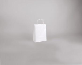 Náhled produktu Papírová taška BIANCO TWIST - 18 x 24 x 8 cm - bílá