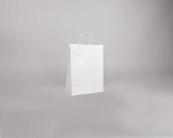 Náhled produktu Papírová taška BIANCO TWIST - 26 x 34 x 12 cm - bílá