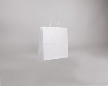 Náhled produktu Papírová taška BIANCO TWIST - 30,5 x 34 x 17 cm - bílá