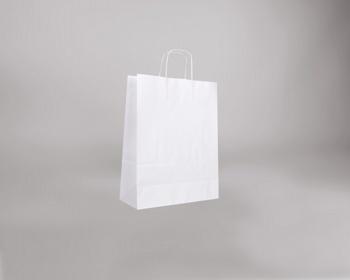 Náhled produktu Papírová taška BIANCO TWIST - 32 x 42 x 14 cm - bílá