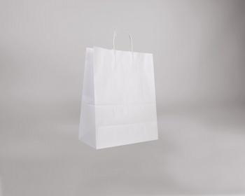 Náhled produktu Papírová taška BIANCO TWIST - 35 x 44 x 18 cm - bílá