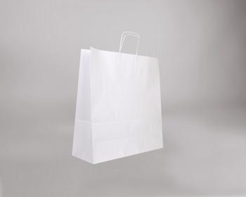 Náhled produktu Papírová taška BIANCO TWIST - 45 x 48 x 17 cm - bílá
