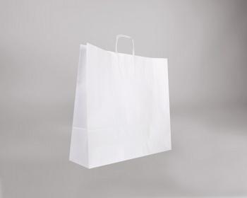 Náhled produktu Papírová taška BIANCO TWIST - 54 x 49 x 15 cm - bílá