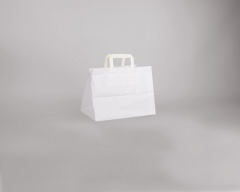 Náhled produktu Papírová taška BS CRAFT - 31,5 x 24,5 x 21,5 cm - bílá