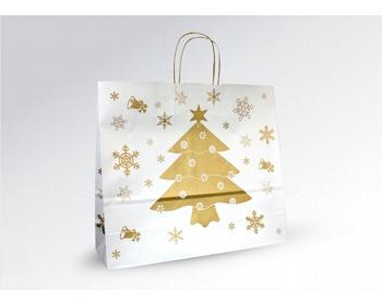 Náhled produktu Vánoční papírová a dárková taška CHRISTMAS - 43 x 37 x 13 cm