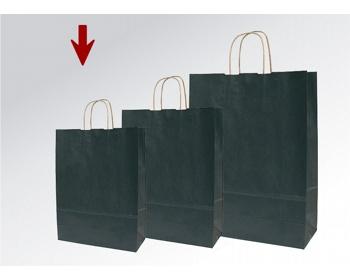Náhled produktu Papírová taška ECO NERO - 18 x 25 x 8 cm