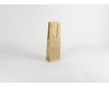 Náhled produktu Papírová taška na víno GLASS GOLD - 12 x 40 x 9 cm