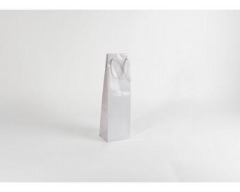 Náhled produktu Papírová taška na víno GLASS BIANCO LUX - 12 x 40 x 9 cm