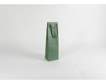 Náhled produktu Papírová taška na víno GLASS VERDE - 12 x 40 x 9 cm