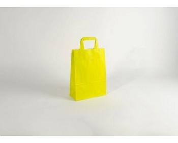 Náhled produktu Papírová taška HAPPY YELLOW / GREEN - 23 x 32 x 10 cm