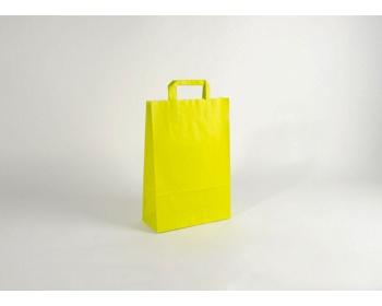 Náhled produktu Papírová taška HAPPY YELLOW / GREEN - 26 x 38 x 11 cm