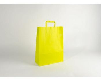 Náhled produktu Papírová taška HAPPY YELLOW / GREEN - 32 x 42,5 x 13 cm