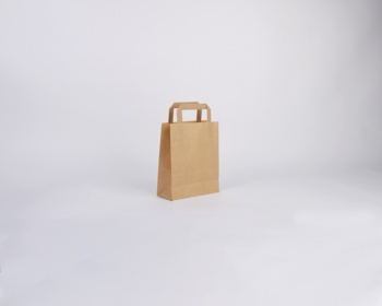 Náhled produktu Papírová taška HS CRAFT - 18 x 22 x 8 cm - hnědá