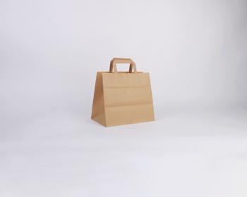 Náhled produktu Papírová taška HS CRAFT - 26 x 24,5 x 17 cm - hnědá