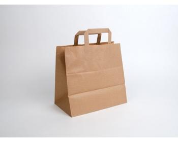 Náhled produktu Papírová taška HS CRAFT - 28 x 27 x 17 cm - hnědá