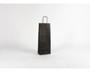 Náhled produktu Papírová taška na víno LONGER BLACK - 15 x 40 x 8 cm