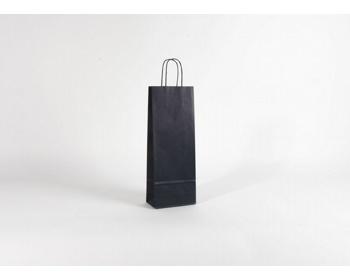 Náhled produktu Papírová taška na víno LONGER BLUE - 15 x 40 x 8 cm