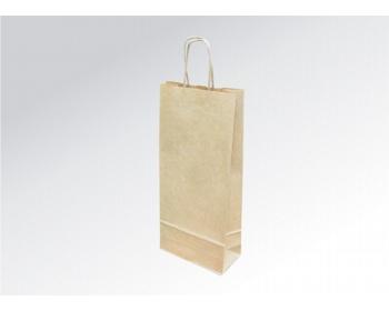 Náhled produktu Papírová taška na víno LONGER NATURAL - 18 x 40 x 8 cm